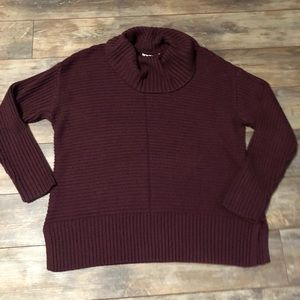 Christopher & Banks Cowlneck Maroon Sweater